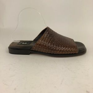 Church's Leather Weave Slide Sandals Shoes